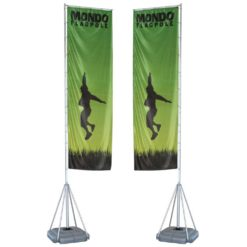 Mondo Flagpole 17ft Double Sided Graphic Package 1
