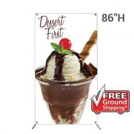 Grasshopper Adjustable Banner Stand Medium with 48 in. x 86 in. Graphic