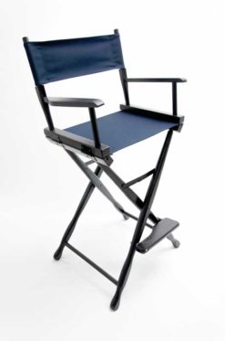 Gold Medal Classic Directors Chairs 30 inch Black Wood Navy Canvas