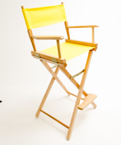 "Gold Medal Directors Chair - Commercial Natural Wood 30"" Yellow Canvas"