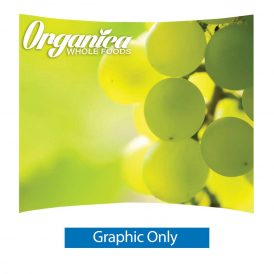10 ft. Ready Pop Fabric Display - 8'h Large Curve Single-Sided Graphic Only (No Endcaps)