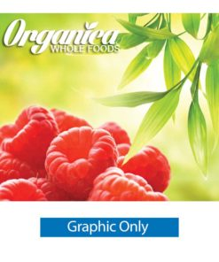 10 ft. Ready Pop Fabric Display - 8'h Large Straight Single-Sided Graphic Only (With Endcaps)