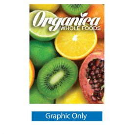 5 ft. Ready Pop Fabric Display - 7.5'h Straight Single-Sided Graphic Only (With Endcaps)