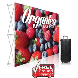 7.5 ft. Ready Pop Fabric Display - 5'h Straight Single-Sided Graphic Package (No Endcaps)