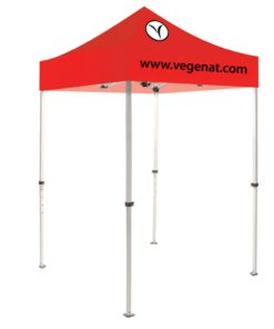 Casita Canopy Tent 5 ft. Steel Stock Red Top 2 Color Logo