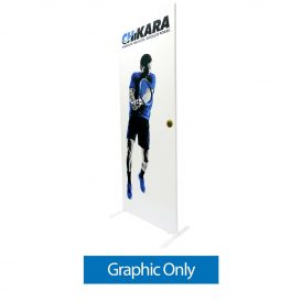 Econotube Fabric Display - Single-Sided Graphic Only (w/ White Back Fabric)