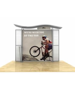 10ft Timberline Display with Wave Top and Slat Wall Wings