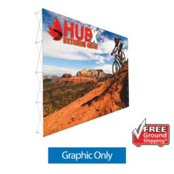 15'X10' RPL Fabric Pop Up Display Straight Graphic Only (No Endcaps) Free