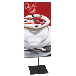 Classic Banner Stand Small 12 In. X 24 In. Double-Sided Graphic Package