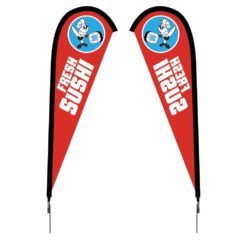 Sunbird Flag - Small 7.5' Spike Base Double-Sided Graphic Package