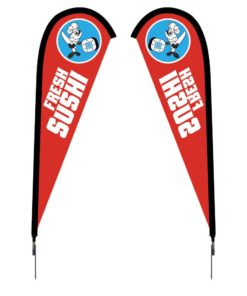 7.5 Ft. Sunbird Flag – Spike-Base Double-Sided Graphic Package
