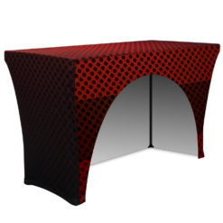 4ft 3 Sided Stretch Table Throw Open Back