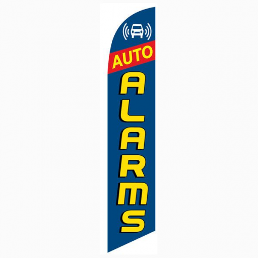 Auto Parts Blue Red Banner Flag