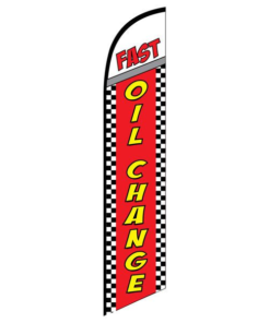Fast Oil Change Advertising Flag
