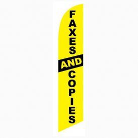 Faxes And Copies Feather Flag