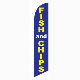Fish And Chips Feather Flag