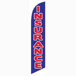 Insurance Blue Feather Flag