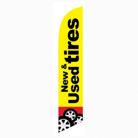New And Used Tires Feather Flag