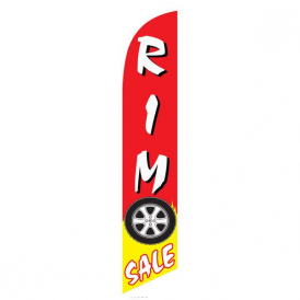 Rim Sale Red And Yellow Feather Flag