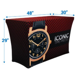 Stretch 4ft 3 Sided 3in Depth Table Throw