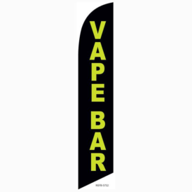 Vape Bar Feather Flag