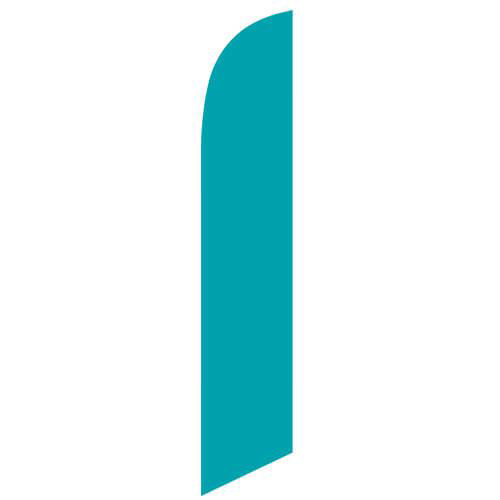 Solid Teal Feather Banner Flag