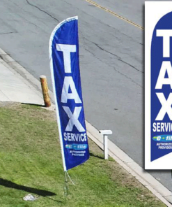 Tax Service Advertising Blue E File