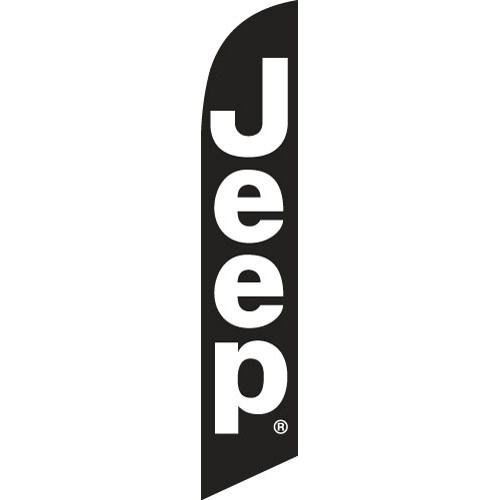 Black Jeep Flag Banner